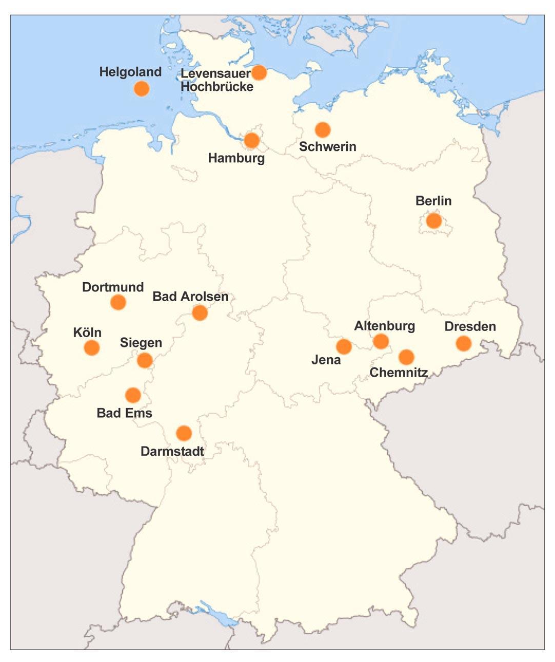 Tyskland Karta